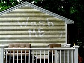 WE CLEAN TO REMOVE MOLD, MILDUE AND DIRT