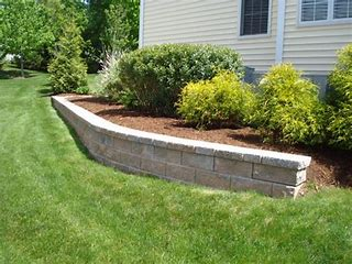 RETAINING WALL POWER WASHED
